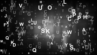 Black Random Alphabet background