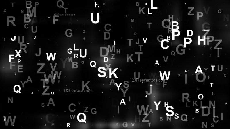 Black Alphabet Background Design