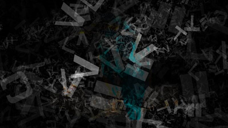 Black Chaos Alphabet Letters Texture Background