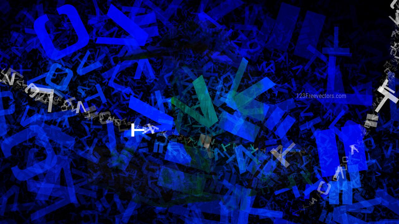 Black and Blue Alphabet Texture Image