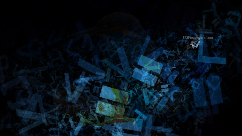 Black and Blue Letters Texture Background Image