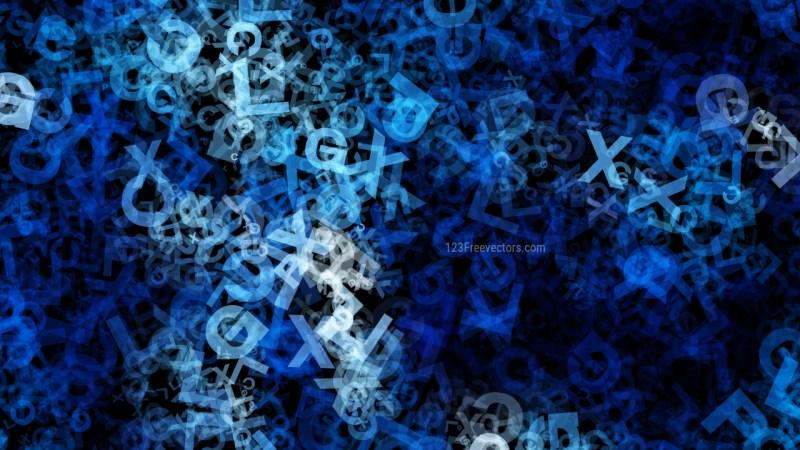 Black and Blue Random Alphabet Texture Image