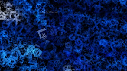 Black and Blue Random Alphabet Letters Texture Image