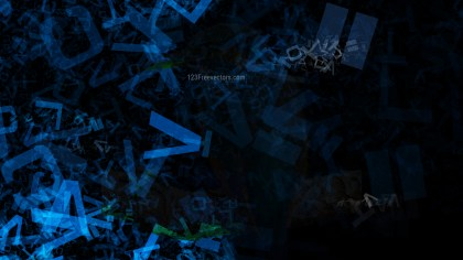 Black and Blue Scattered Alphabet Texture Background Image