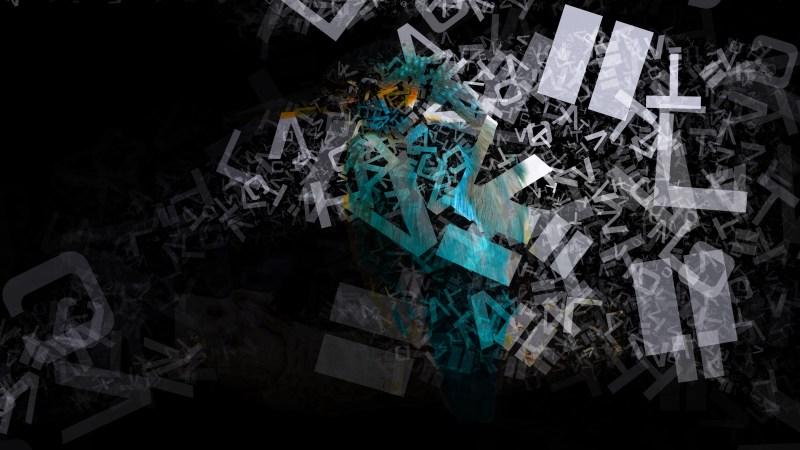 Black and Grey English Alphabet Texture Background