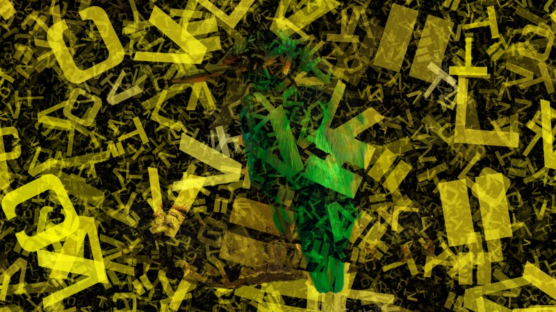 Black and Yellow Scattered Alphabet Texture Background