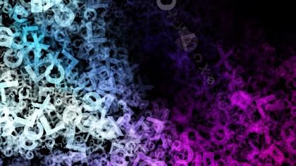 Black Blue and Purple Random Alphabet Texture Background