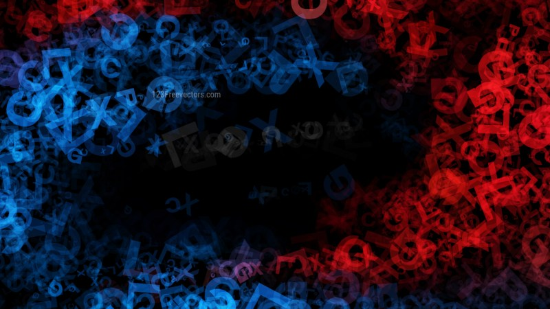 Black Red and Blue Alphabet Texture Image