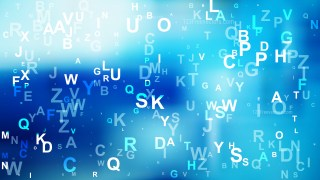 Abstract Blue Random Alphabet Letters Background Vector Graphic