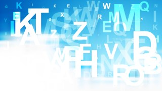 Blue and White Alphabet Letters Background