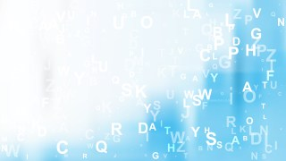 Abstract Blue and White Random Letters Background