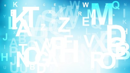 Abstract Blue and White Random Alphabet background