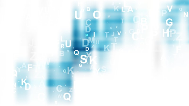 Abstract Blue and White Letters Background Vector Image