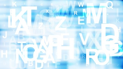 Abstract Blue and White Alphabet Background Graphic