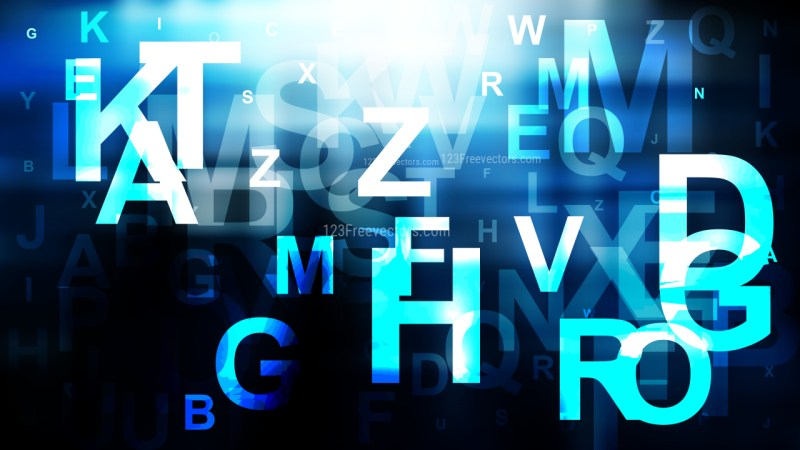 Blue Black and White Alphabet Letters Background