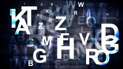 Blue Black and White Random Alphabet Letters Background