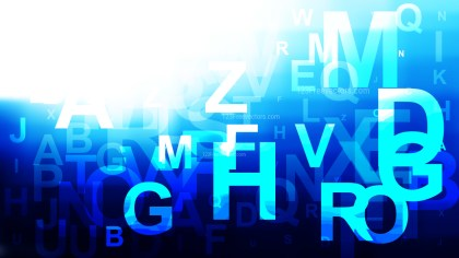 Blue Black and White Alphabet Background Graphic