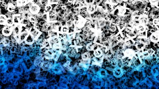 Blue Black and White Chaos Alphabet Letters Texture Background Image