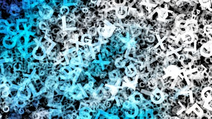 Blue Black and White Letters Texture