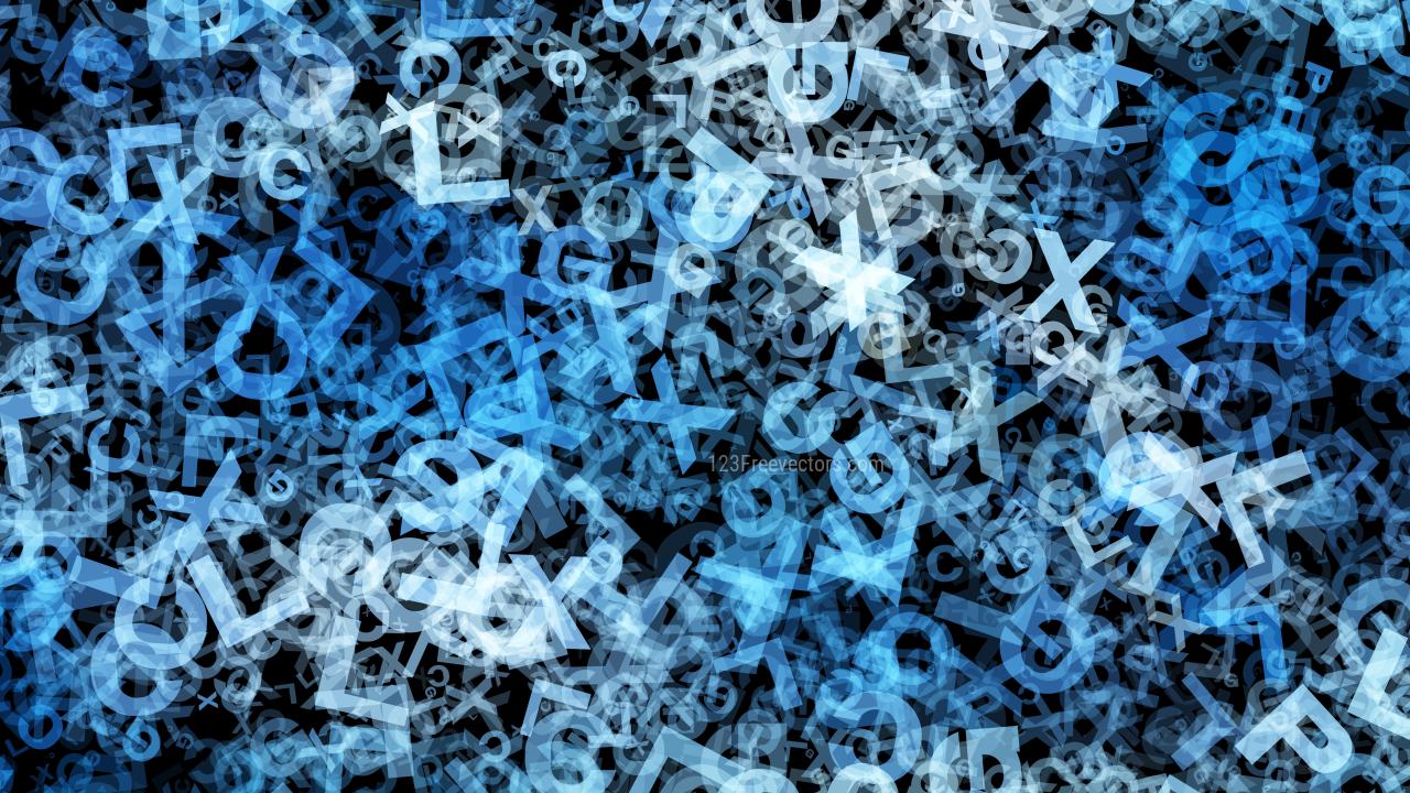 Blue Black and White Alphabet Texture