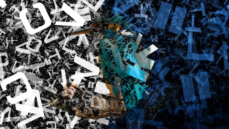 Blue Black and White Random Alphabet Letters Texture Background Image