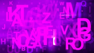 Abstract Bright Purple Random Letters Background Illustrator