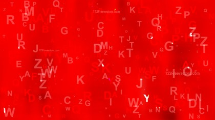 Bright Red Alphabet Letters Background Vector Art