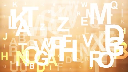 Abstract Brown and White Alphabet Letters Background Vector Illustration