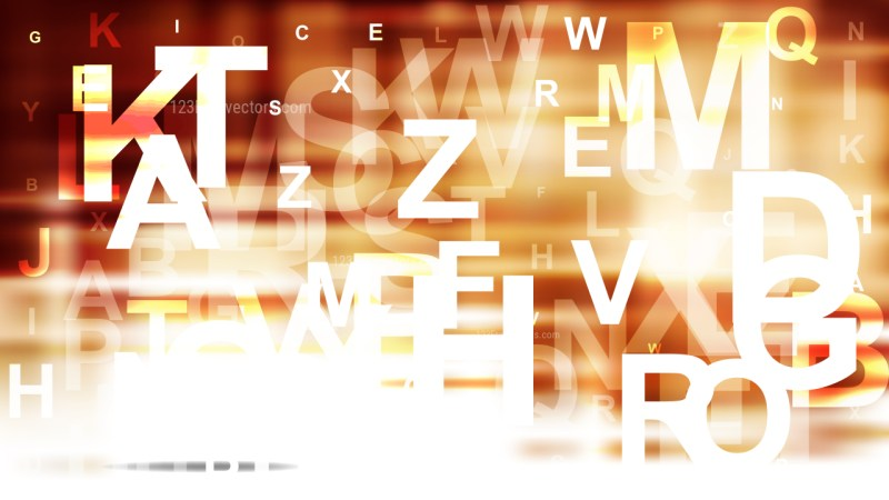 Abstract Brown and White Alphabet Letters Background