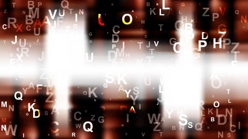 Brown Black and White Random Alphabet background Image