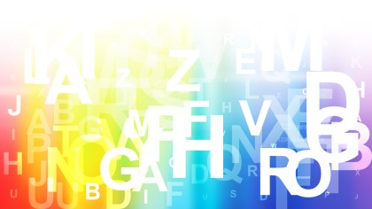 Abstract Colorful Random Letters Background Vector