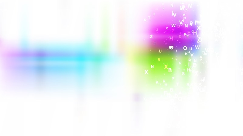 Abstract Colorful Scattered Alphabet Background