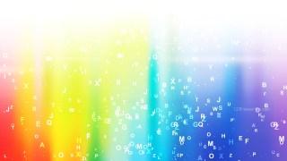 Colorful Random Alphabet Letters Background Vector Graphic