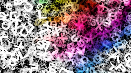 Colorful Scattered Alphabet Letters Texture Background