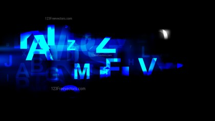 Cool Blue Letters Background