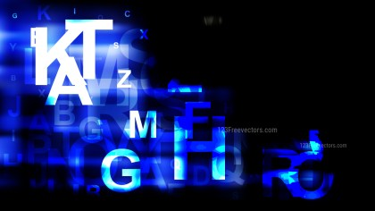 Cool Blue Random Alphabet background Illustration