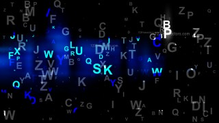 Cool Blue Scattered Letters Background Image