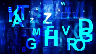 Abstract Cool Blue Scattered Letters Background