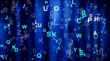 Cool Blue Random Alphabet background Image