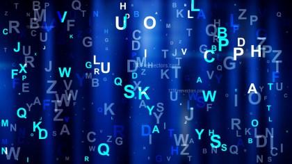 Cool Blue Random Alphabet background Image