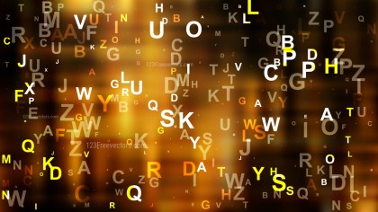 Cool Brown Random Letters Background