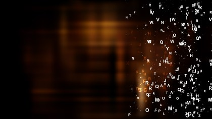 Cool Brown Scattered Letters Background