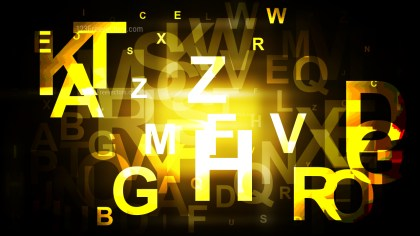 Abstract Cool Gold Alphabet Background