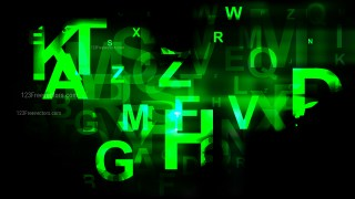 Cool Green Alphabet Letters Background