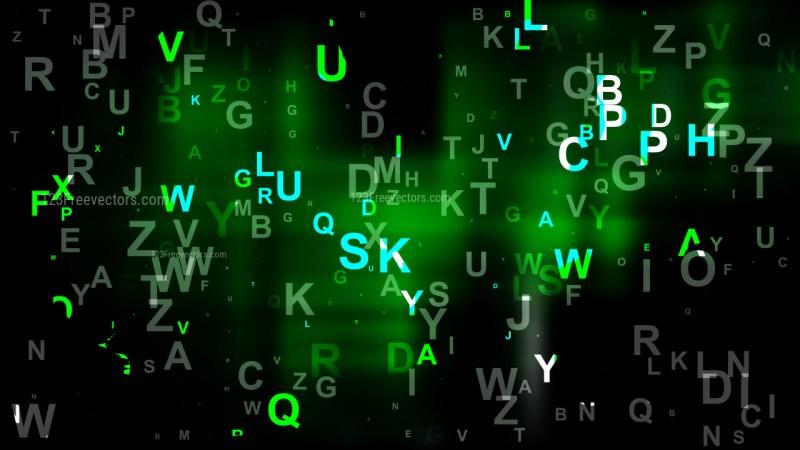 Cool Green Alphabet Background