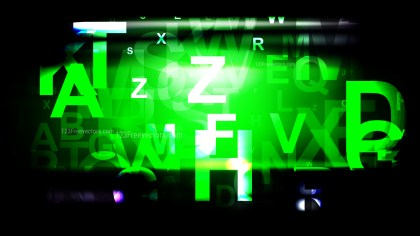 Cool Green Random Letters Background