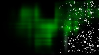Cool Green Scattered Alphabet Background Vector Graphic