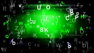 Abstract Cool Green Letters Background