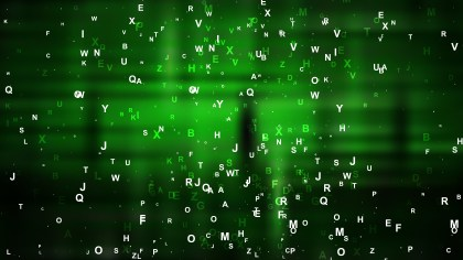 Cool Green Scattered Letters Background