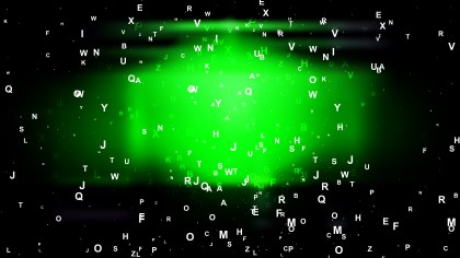 Cool Green Alphabet Letters Background Image